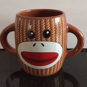 Monkey sock coffee cup